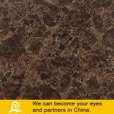 焦茶の大理石の石造りのタイルによって艶をかけられる完全な磨かれたタイル