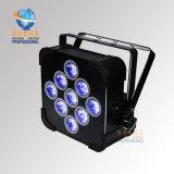 Farbe 4in1 RGBW/RGBA LED flacher NENNWERT Licht LED des Cer-kann RoHS genehmigter Vierradantriebwagen-9*10W dünner NENNWERT für Stadiums-Ereignis-Partei-Disco
