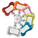 Segurança do osso Flash tags ID Pet Colar Pendente de LED Clip