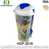 Salada de plástico de alta qualidade Cup com capa de vestir (HDP-2018)