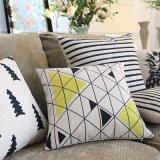 Almofadas de 18 polegadas quadradas impressas para decoração de cama