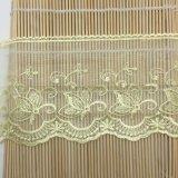 工場標準的な卸売12cmの幅の刺繍の衣服のアクセサリのためのナイロン純レースポリエステル刺繍のトリミングの空想の網のレース及びホーム織物及びカーテン