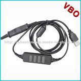 Auriculares do USB do centro de chamadas da alta qualidade com o Mic para o sistema de VoIP