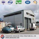 プレハブの現代デザイン耐火性の鉄骨構造の倉庫
