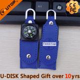 USB di cuoio girante Pendrive della bussola per i regali di promozione (YT-5113)