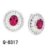 Имитационные ювелирные изделия 925 серебряных Earrings. диаманта замков английской языка
