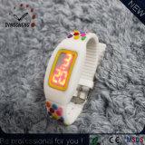 O relógio liso do diodo emissor de luz do silicone muitos colore, relógios de Digitas da tela de toque