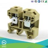 L'équipement électrique Weidmuller 10mm2 vis en acier sur le fil de la taille des blocs de jonction rail DIN