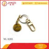 Kundenspezifischer Markenname-Logo-Metallmünzen-Halter Keychains