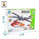 Kind-Plastik 3 in 1 Hubschrauber blockt Spielzeug 427PCS