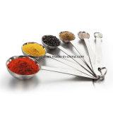 Cuillères à mesurer, Hard Crafts Meilleures cuillères à café en mousse métallique Acier inoxydable pour cuisson - Ensemble de 6 inclus (0.6ml, 1.25ml, 2.5ml, 5ml, 7.5ml, 15ml)