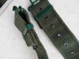 Ceinture militaire en cuir de style britannique et ceinture en tissu imprimé personnalisé en coton