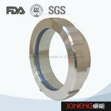 Aço inoxidável pinçada sanitárias final o visor de vidro (JO-SG2010)