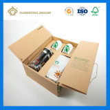 Boîte en carton Kraft durables pour les tasses et contenant de l'eau (avec la conception personnalisée)