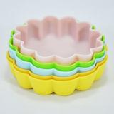 цветок 5PCS сформировал комплект прессформы пудинга/торта силикона качества еды