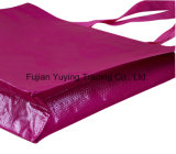 Bolso de totalizador no tejido de la púrpura con Pringting modificado para requisitos particulares