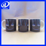 Smilling Face Wake Up Eyes Color Changing Mugs