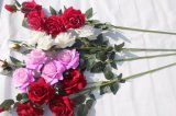 Qualitäts-rote Rosen-künstliche Blumen für Haupthochzeits-Dekoration