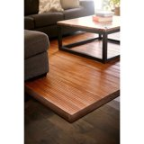 Tronco Trufa De Bambu Brown Border Area Rug