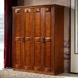 Meubles de chambre à coucher Armoires en bois massif Armoire Cabinet (GSP9-016)