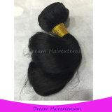 安いブラジルのバージンの毛の緩い波の自然で加工されていない人間の毛髪