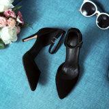 Ботинки сандалии высокой пятки повелительниц шпилек платформы женщин кожаный