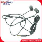 3.5mmの金のプラグの電力定格3MWのワイヤー機能のステレオの耳のイヤホーン