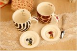 Tazze di caffè di ceramica stampate abitudine professionale di figura del briscola per articoli per la tavola