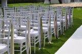 Cadeira de jantar empilhável para casamento / Chiavari Chair / Plastic Tiffany Chair