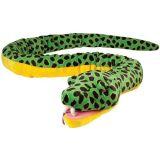قطيفة هبة [أنكندا] ثعبان أصفر وخضراء [س] لعبة