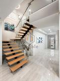 최신 똑바른 강철 목제 디자인 계단 공간 절약