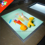 Cadre léger mince du panneau DEL de menu avec l'étalage de système