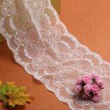 نمو تصميم جميلة أبيض خاصّ بالأزهار شريط عرس ثوب