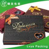 Diseño personalizado de alta calidad de impresión CMYK artesanal de chocolate plegable Embalaje de regalo Caja de papel