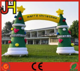 屋外のクリスマスの装飾膨脹可能な党アーチ