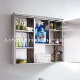 Большинств шкаф 7001 зеркала популярной ванной комнаты мебели нержавеющей стали вспомогательный