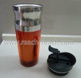 taza inoxidable del recorrido de la taza del coche de acero 16oz (R-2302)