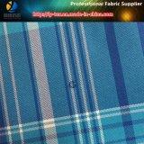 Ткань 100% Shirting пряжи полиэфира покрашенная в персике для одежды (YD1112)