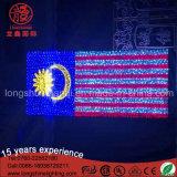 O costume faz o país América do diodo emissor de luz Malaysia Médio Oriente embandeirar a luz para o dia nacional