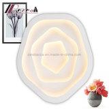 Künstlerische Tricolor Rosen-geformte Beleuchtung-Decken-Lampe für Schlafzimmer