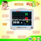Monitor de paciente Ce FDA Approved Medical Monitor 6 parámetros del monitor de paciente de la pantalla de 12,1""