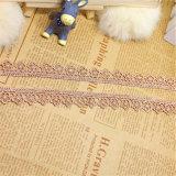 Tela química de la ropa de la fábrica de la venta al por mayor el 1.5cm de la anchura del bordado del cordón del poliester del bordado del recorte del cordón común de la suposición para la materia textil y las cortinas caseras