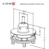 CNC van het roestvrij staal de Magnetische Houder van het Hulpmiddel van de Draaibank met Tussenvoegsels 3A-110028