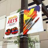Calle poste ligero del metal que hace publicidad del dispositivo de la bandera de la visualización (BT83)