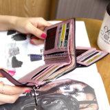 Borsa femminile di Short della borsa dell'annata della frizione della signora Letter Wallet Zipper Short piccola delle donne di modo opaco solido del raccoglitore