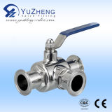 Steel di acciaio inossidabile 3 Way Ball Valve con ISO5211 Pad (Q11F)