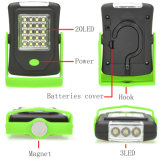 20+3 torche LED phare de travail de lanterne 23 voyants DEL Portable Camping Lampe vélo avec l'aimant et crochet de suspension de rotation
