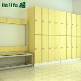 Jialifuの熱い販売のコンパクトの積層物のパネルの寝室の家具のロッカー