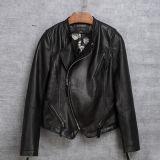 方法オートバイの衣服の女性のための実質のヒツジの革衣服