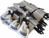 Petit sac 100% de poche de cadeau de bijou de toile de coton estampé par coutume promotionnelle